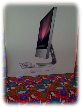 An iMac Christmas gift for my mom, sister, and nieces