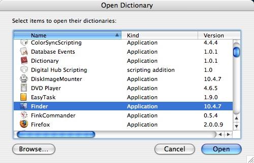 AppleScript tip: using the ScriptEditor dictionary | alvinalexander com