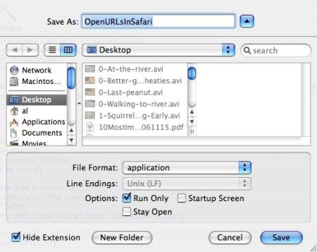 AppleScript application - How to save a script as an application