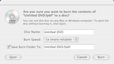 Mac DVD burn example - How to burn a DVD on Mac OS X