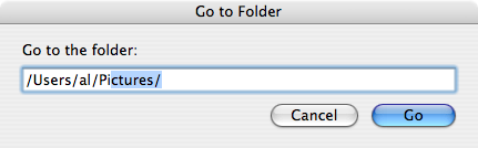 how to go directly to folder in finder