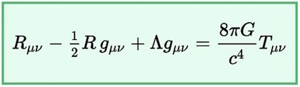The Einstein field equations