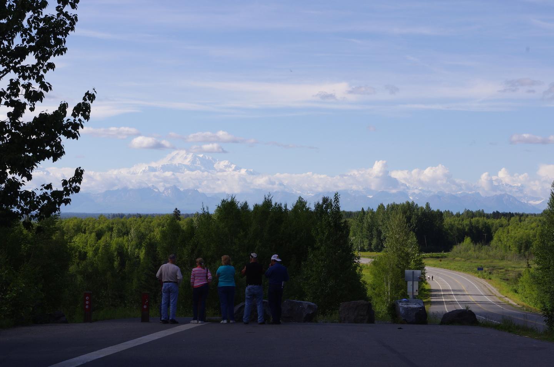 Looking at Denali from the hill in Talkeetna, Alaska