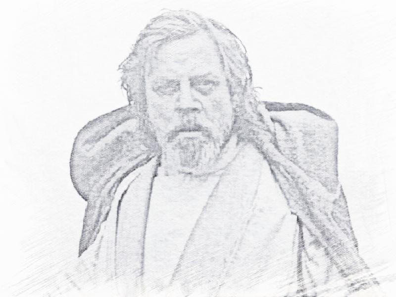 luke skywalker drawings