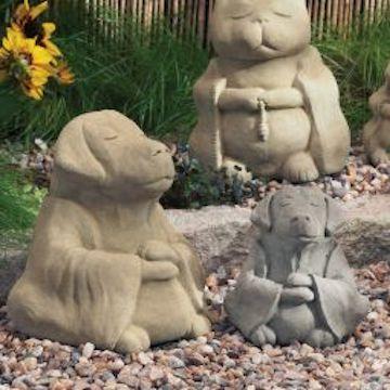 Zen Dog Garden Sculptures, Zen Garden Sculptures
