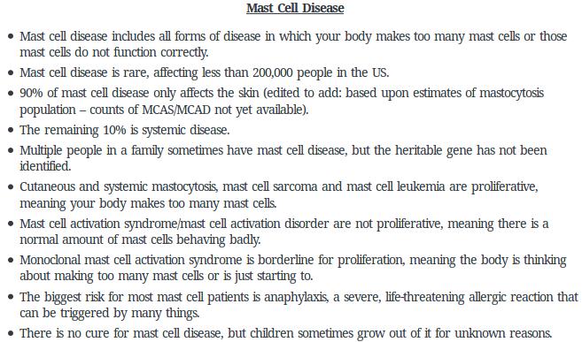 Mast cell disease fact sheet   alvinalexander.com