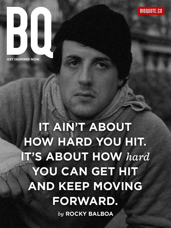 it s about how hard you can get hit and keep moving forward