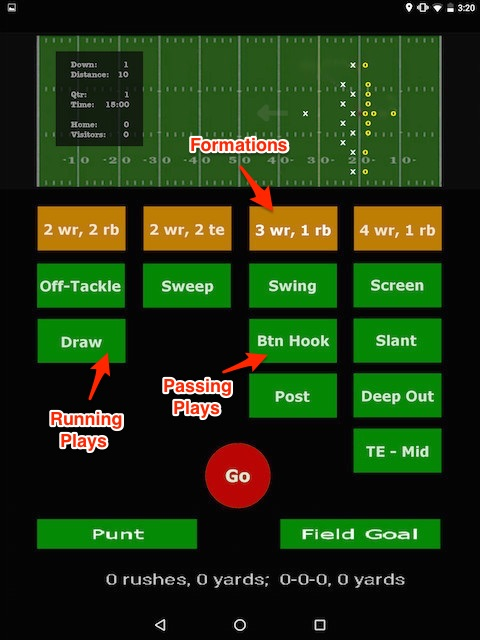 Android football game (version 2) | alvinalexander com