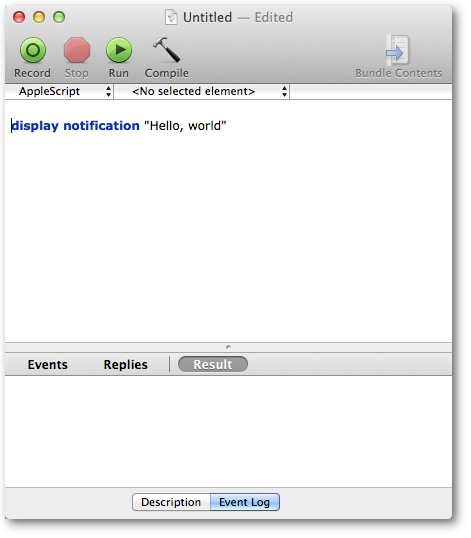 How to fire MacOS notifications with AppleScript and Scala