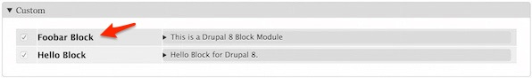Enable the Drupal 8 Block Module
