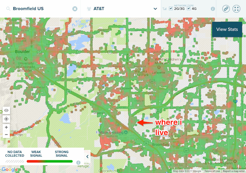 Bad Cellular Reception In Colorado Boulder Broomfield Louisville - Att cell map