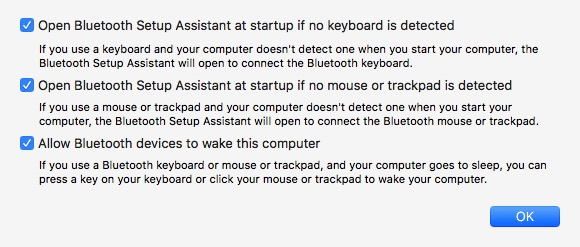 MacOS system preferences > Bluetooth