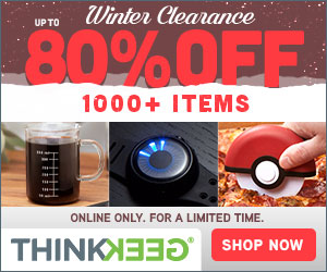 ThinkGeek clearance
