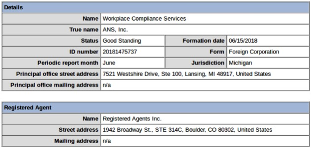 Workplace Compliance Services in Colorado, Michigan