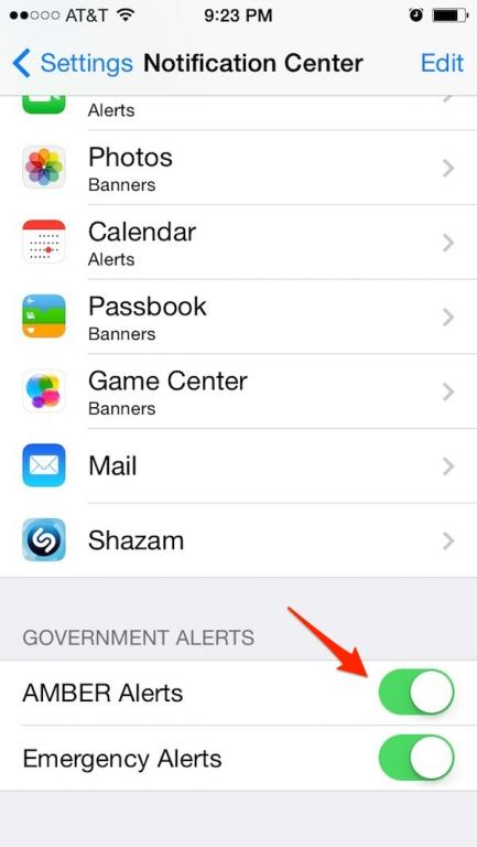 How to disable iOS AMBER Alerts (iPhone, iPad)