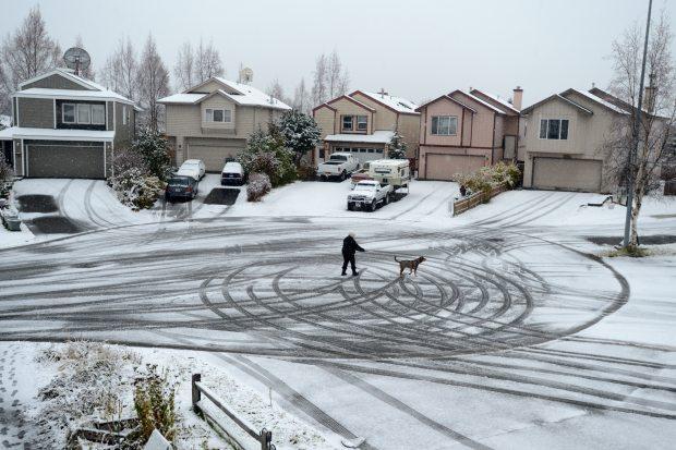 Nine inches of snow in Anchorage, Alaska   alvinalexander.com