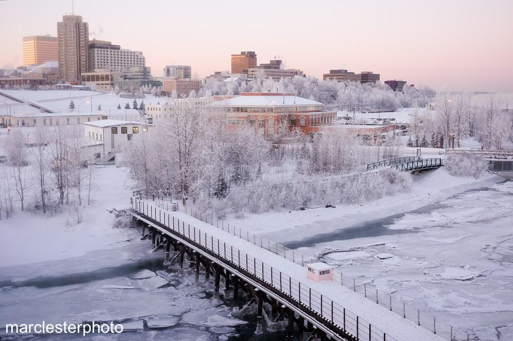 Anchorage, Alaska frozen | alvinalexander.com