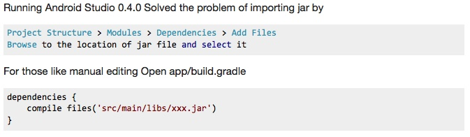 Android Studio - How to import a jar file (in a libs folder