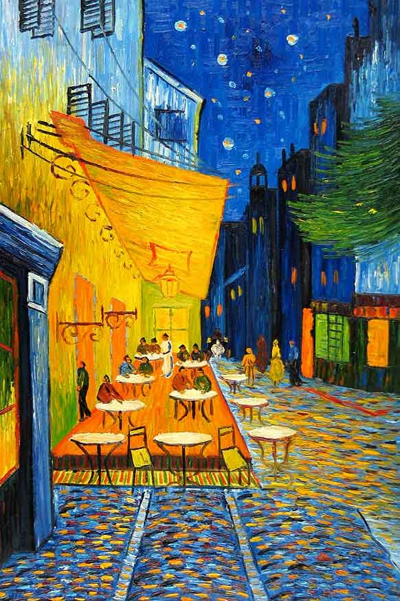 Cafe Terrace At Night Vincent Van Gogh Alvinalexander Com