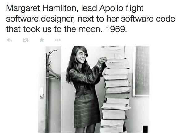 margaret hamilton  apollo software designer  next to her