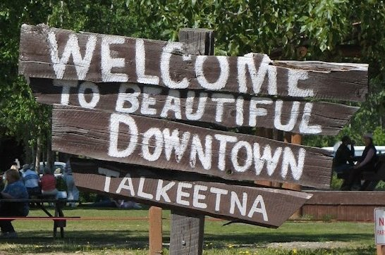 Welcome to Talkeetna sign