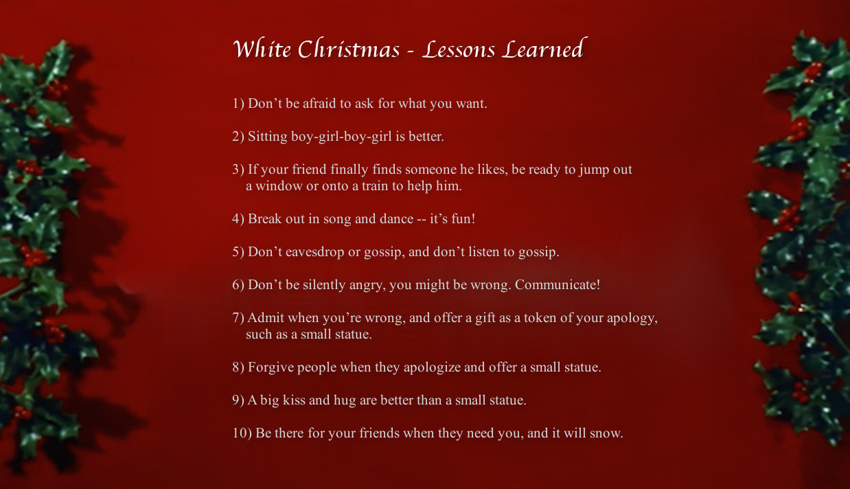 lessons learned from watching white christmas - What Is A White Christmas