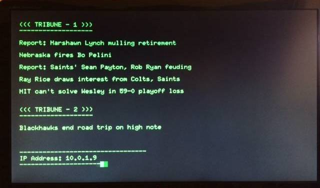 My Raspberry Pi news ticker display