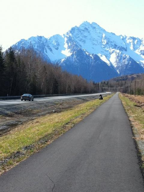 Bike path in Palmer, Alaska