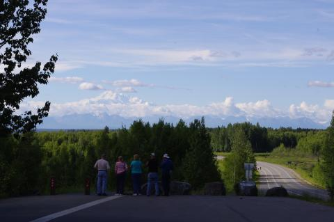 The view of Denali from the hill in Talkeetna, Alaska