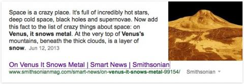 On Venus it snows metal | alvinalexander.com