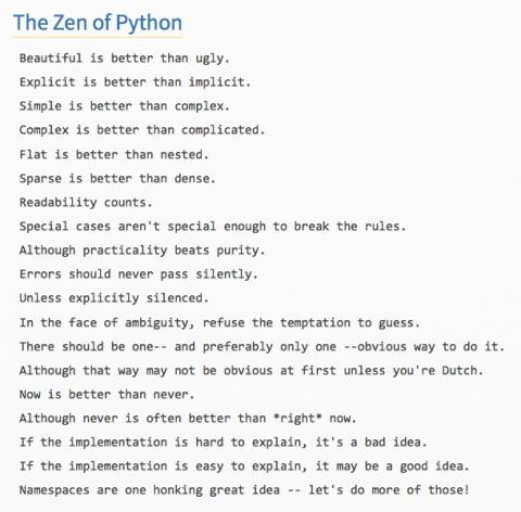 The Zen of Python   alvinalexander.com