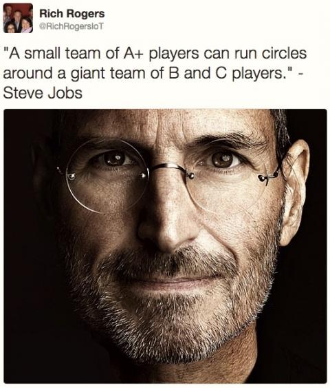 Steve Jobs on 'A' players
