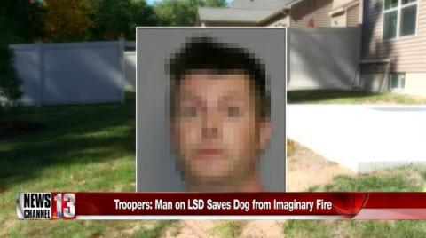 Man on LSD saves dog from imaginary fire