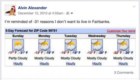-31 reasons not to live in Fairbanks, Alaska in the winter