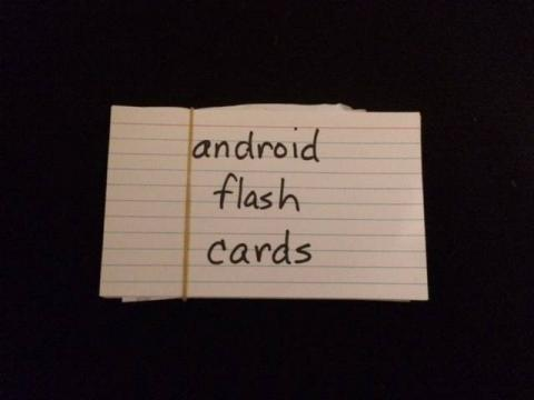 Android flash cards