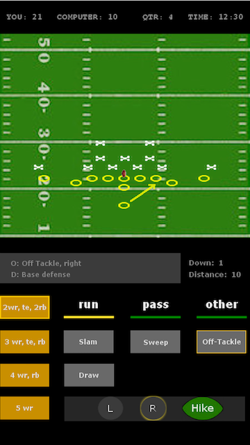 Prototype of the next version of my Android football game