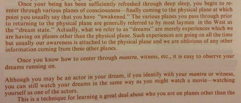 Ram Dass on sleep and dreaming