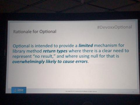 The rationale for Optional (in Java)