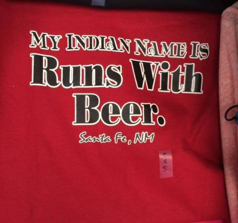 My Indian name is 'Runs With Beer'