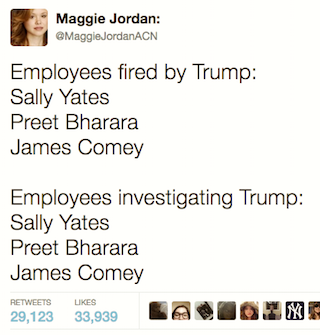 People fired by Trump