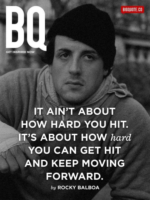 It's about how hard you can get hit and keep moving forward