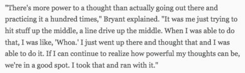 Cubs Kris Bryant on the power of thought