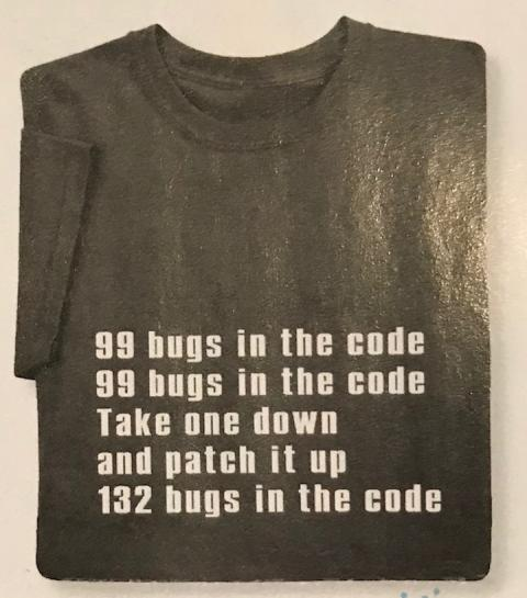 99 bugs in the code (t-shirt)
