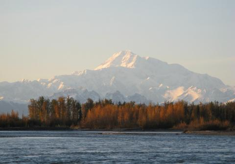 Denali, from the rivers in Talkeetna