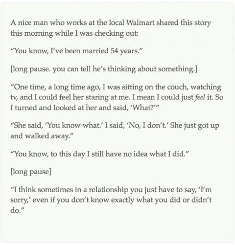 A story from Ben at the Walmart in Broomfield, Colorado