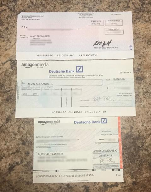 Royalty checks in multiple currencies