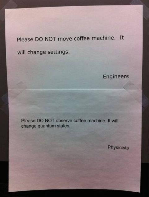 Don't move or observe the coffee machine