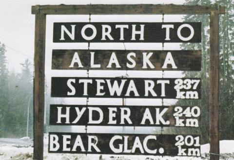 North to Alaska sign