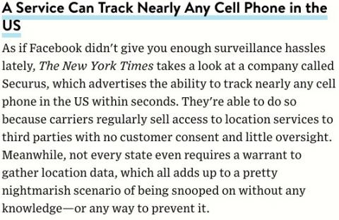 A company claims to be able to track any cell phone in the U.S.