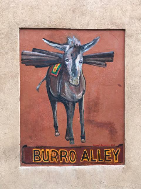 Burro Alley painting (Santa Fe, New Mexico)